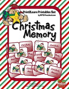 Christmas Memory from RFTS Preschool on TeachersNotebook.com (22 pages)  - CHRISTMAS MEMORY 22 Pages  This is a fun holiday themed memory card game. Each player tries to collect the most number of matched sets. The child with the most sets is declared the WINNER. Enjoy and have fun!