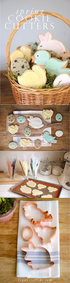 Easter Sugar Cookies | Tips for Decorating & Step-by-Step Instructions  Link to find these Cookie Cutters, too!