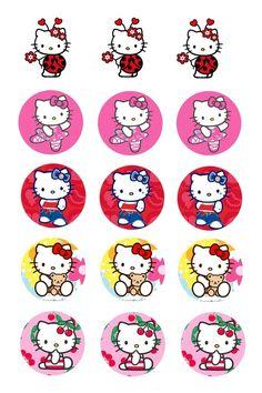 hairbow, bottle caps, hello kitti, bottle cap images, hair bows, free bottle cap printables, bottl cap, kitti bottl, hello kitty
