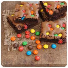 Brownie de M&M's