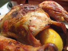 Roast chicken with garlic and sun-dried tomatoes