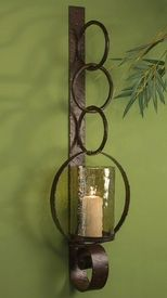 ME3006 - Bronze Iron Ring Wall Sconce - Candle Holder