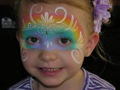face paintingey, paint idea, face paintings, birthday idea, rainbows, facepaint, paints, rainbow face, face masks