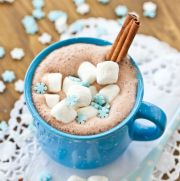 Hot chocolate without the Swiss Miss packet. Twice as rich!