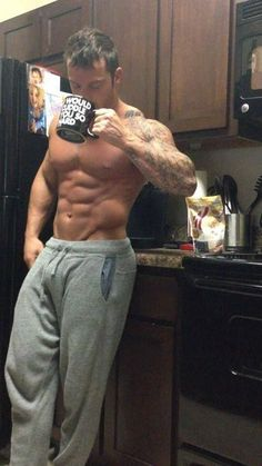 coffee with a side of beefcake!