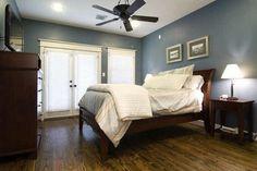 blue bedroom walls