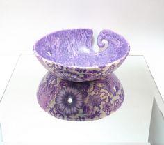 Purple Mokume Gane Yarn Bowl | Flickr - Photo Sharin g #polymer clay