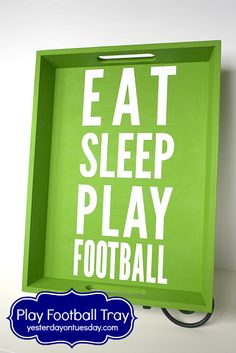 Play Football Tray with materials from @craftsandframes #seahawks #seahawksdecor