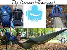 The HackedPack is an innovative backpack that has a hammock which can by deployed in seconds and keeps your bag off the ground while hammocking. GetdatGadget.com/hackedpack-backpack-hammock/