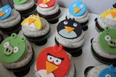 Angry Bird Cupcake Toppers on Etsy, $16.00