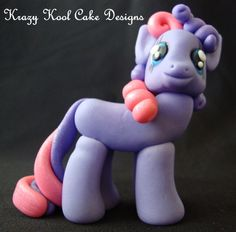 Little Pony Cake Topper In Purple by KrazyKoolCakeDesigns on Etsy @shauntel tingley