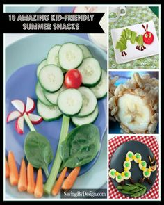 These healthy, kid-friendly summer snack ideas are fun, easy to make, and will have your kids begging for more! | SavingByDesign.com