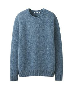 MEN LAMBSWOOL BLEND CREW NECK SWEATER