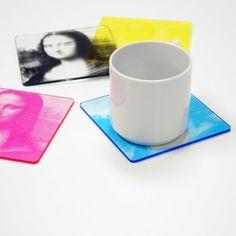 CMYK Color Printed Coasters color print, cmyk color