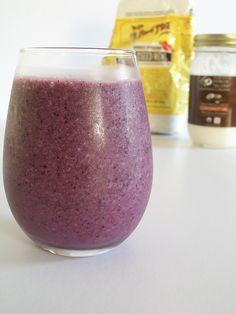 Vegan Blueberry Banana Flax Smoothie | Cheap  Simple Vegan Recipes