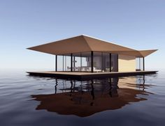 The sustainable boathouse shifts your dwelling's base to water | Designbuzz : Design ideas and concepts