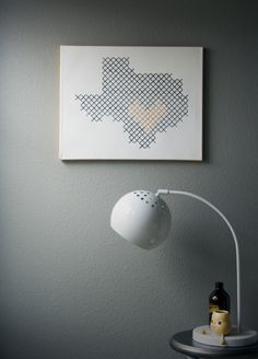 DIY Giant Cross-Stitch Wall Art
