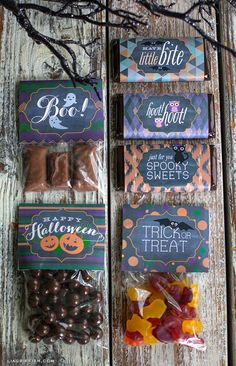 Halloween Candy Wrappers and Toppers