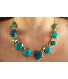 teal + turquoise necklace