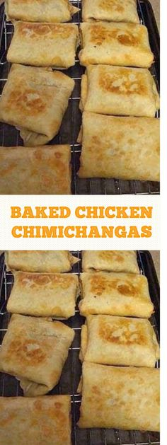 Baked Chicken Chimichangas #chickenrecipes #chimichangas