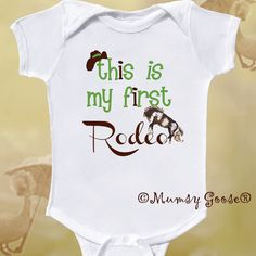 Funny Boy Cowboy Onesie Funny Baby Boy Onesie Rodeo by MumsyGoose, $14.95