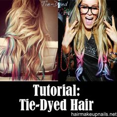 TIE-DYED HAIR TIPS
