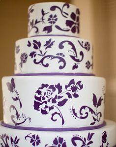 beauti idea, purpl paint, futur, cake wedding, cake idea, dream, weddings, white cakes, purple wedding cakes