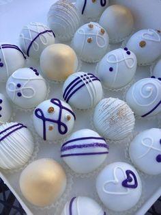 Wedding Cake balls wedding cake balls, blue, purple and gold wedding cakes, cakepop, wedding cake pops, purple wedding cakes