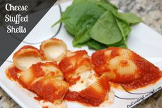 Cheese Stuffed Shells chees stuf, dinner idea, food idea, favorit recip, stuf shell, stuffed shells, yummi, pasta