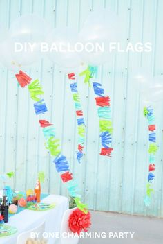 summer fiesta, balloon tassel diy, fring, diy balloon, parti