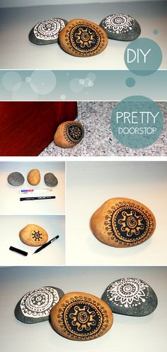 painted rock doorstop