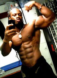 Muscle man, body builder, my husband. Ok the last part isn't true! Lol
