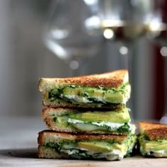 Thirty inspired grilled cheese recipes - Green Goddess Grilled Cheese pictured here