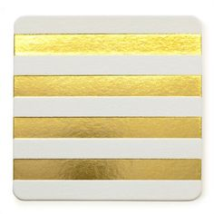 gold striped coasters