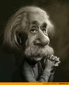 Caricatura de Albert Einstein.