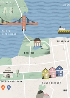 San Francisco illustration map