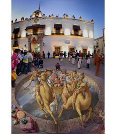 Pavement art and 3D Illusions by Kurt Wenner