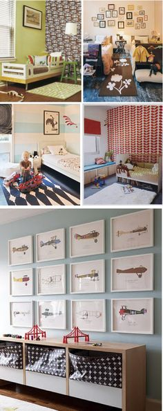 Love the airplanes for a boys room!