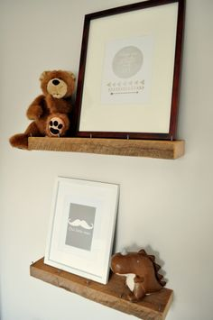Project Nursery - Rustic and Contemporary Nursery Book Ledges