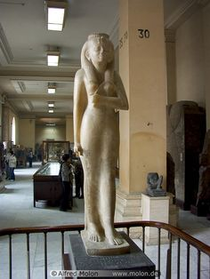 Statue of Amenirdis, daughter of Kashta, one of the kings of the 25th Nubian dynasty. She was a divine wife of Amon, a title which gave her as much power as the king himself, however only in Luxor. Alabaster on black granite - 25th dynasty - Karnak.