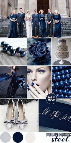 Fiesta fabulosa en facebook: https://www.facebook.com/TuFiestaFabulosa midnight blue and silver winter wedding 2013 color trends