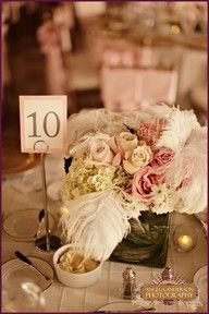 flapper glam feather centerpiece