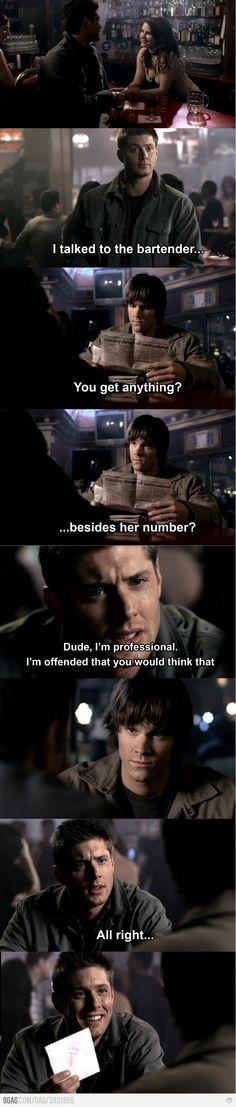 Hahahaha Dean Winchester <3
