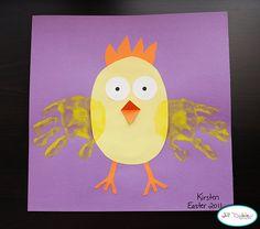 haha cute easter crafts, handprint art, hand prints, hand print crafts, craft ideas, art activities, spring crafts, kid crafts, chicken crafts