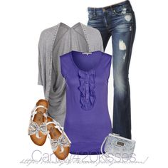Spring Outfits – Purple Grey