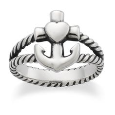 Faith, Hope & Love Ring from James Avery Jewelry, so cool!