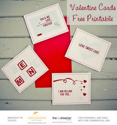 Valentine Cards Free Printable - TheDIYDreamer.com