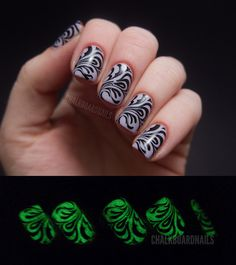 Glow in the dark nails! They look cool in the dark or light!