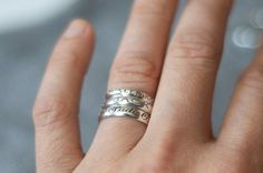 So sweet...Baby name stacking rings