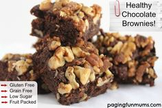 Healthy Chocolate Brownies - great for kids lunch boxes!